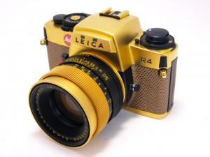 ライカ R4ゴールド+ズミルックスR50/1.4ゴールド