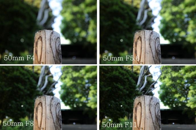 焦点距離とボケ・50mm