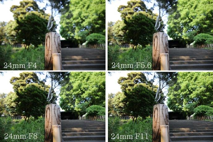 焦点距離とボケ・24mm