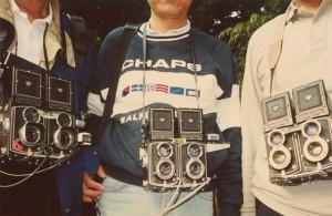 3台のステレオカメラ