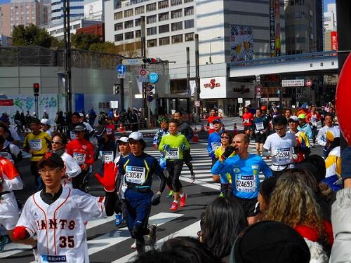 今日の銀座は・・・東京マラソン20130224a