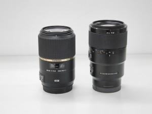SONY FE 90mm F2.8 Macro G OSSサイズ比較