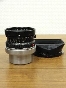 ライカ スーパーアンギュロン21-3.4(BK)+フード12501・1
