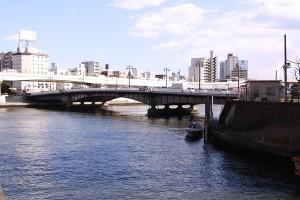神田川、隅田川に合流