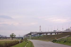 鹿浜橋付近