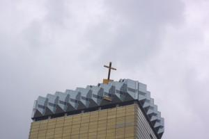 ビールに十字架