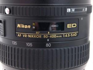 ニコン AF VR 80-400/4.5-5.6D
