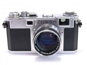 ニコンS2型(後期)黒ダイヤル+50/1.4付