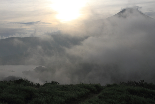 車山高原より白樺湖方面を望む