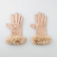 スマホ女性手袋ベージュjpg