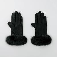 スマホ女性手袋黒