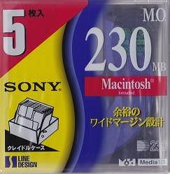 sony MO 230MB
