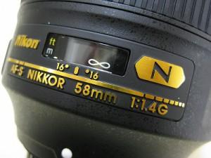 ニコン AF58/1.4G ナノクリスタル