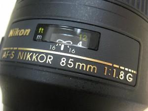 ニコン AF-S85/1.8G