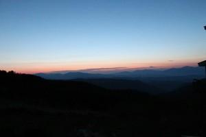 御嶽山 朝焼け