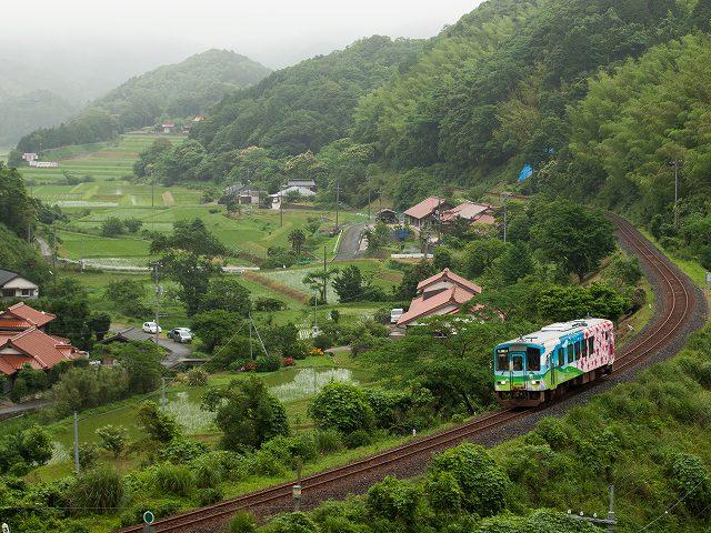 JR美祢線というローカル線です