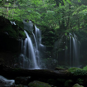 梅雨時期の滝