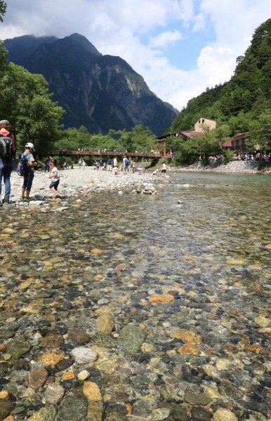 【撮影地情報】 梓川の清流は今も変わらず綺麗だった。「信州上高地」20