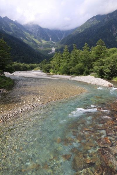 【撮影地情報】 梓川の清流は今も変わらず綺麗だった。「信州上高地」22